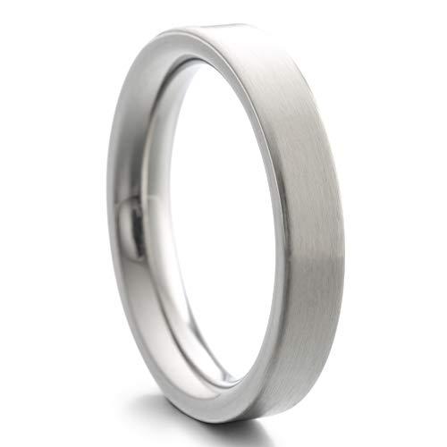 Heideman Ring Damen und Herren Paari aus Edelstahl Silber Farben poliert oder matt Damenring für Frauen und Männer Partnerringe strichmatt Gr.60 hr7000-4-60