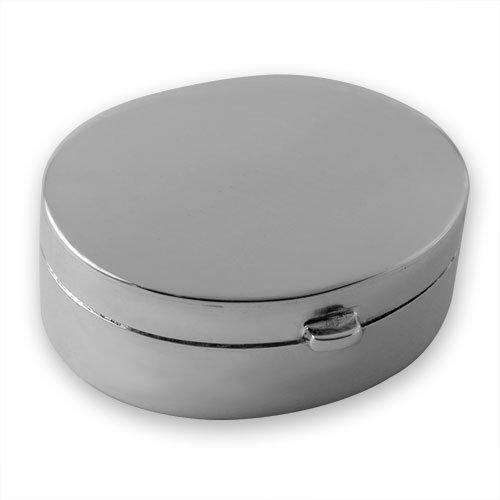 Pillendose, oval, Sterling-Silber 925, handgefertigt, in Geschenkverpackung