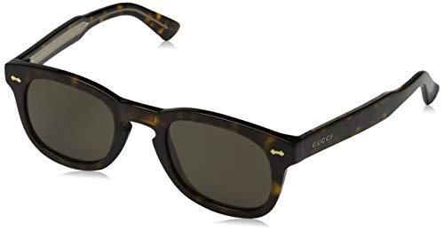 Gucci Unisex-Erwachsene GG0182S 003 Sonnenbrille, Braun (3/Brown), 49