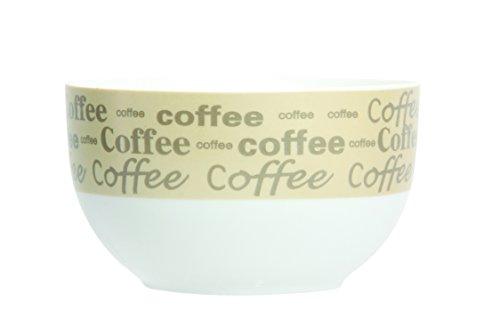 Novastyl 5186082 Lot de 6 Bols Métal Coffee Porcelaine Beige 13 cl