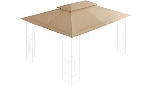 baumarkt direkt Ersatzdach für Pavillon, Bogen 300x400 cm 300 cm, 400 cm, sandfarben
