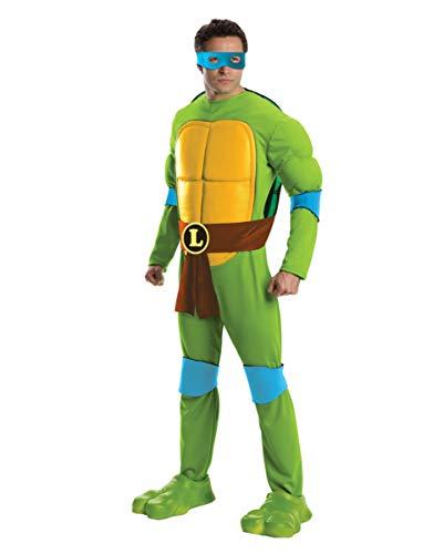 Tmnt Deluxe Kostüm - Horror-Shop TMNT Leonardo Kostüm Jumpsuit Deluxe One Size
