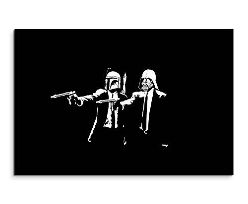 Star Wars Pulp Fiction Wandbild 120x80cm XXL Bilder und Kunstdrucke auf Leinwand (Wandbild Star Wars)