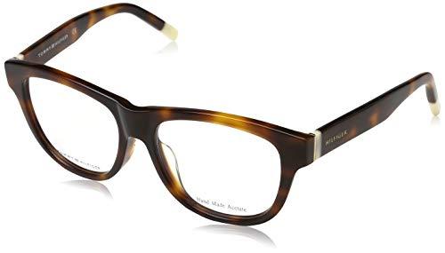 Tommy Hilfiger Unisex-Erwachsene 762753353184 Brillengestelle, Braun, 53