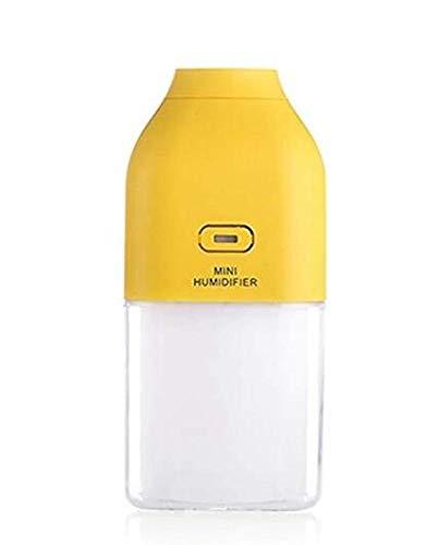 Mini Botella de Energía Portátil Forma Usb Led Noche Colorida Humidificador de Aire de Luz Humidificación para el Hogar/Oficina/Coche,Amarillo,Humidificador