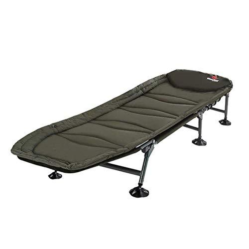 Tragbare Angeln Bett Stuhl Klapp Camping Guest Bed Bedchair Verstellbare Rückenlehne & Beine Bedchair, Schwerelosigkeit Lounge Chair Laden bis zu 120 kg