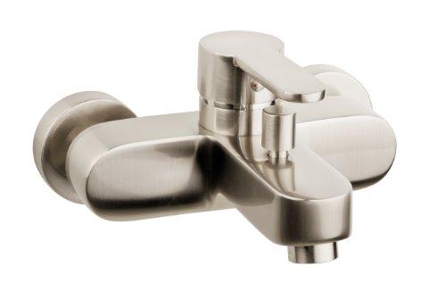 AquaSu - Badewannen-Einhandmischer Sanmix Style, Edelstahl Wasserhahn