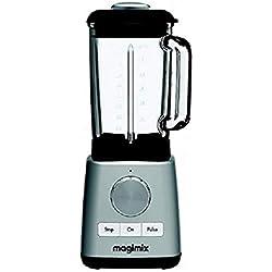 Magimix 11625 Mixeur en verre 1,8l 1200W Chromé Blender 600tr/min, 15000tr/min