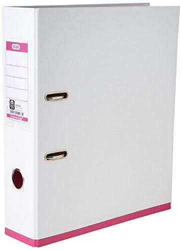 Elba 100023638 Ordner myColour - ohne Kantenschutz mit farbigem Rand, sortiert, weiß
