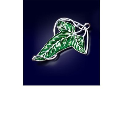 Noble Collection - Lord of the Rings Brooch Elven Leaf Brooch (silver plated) by Noble Collection