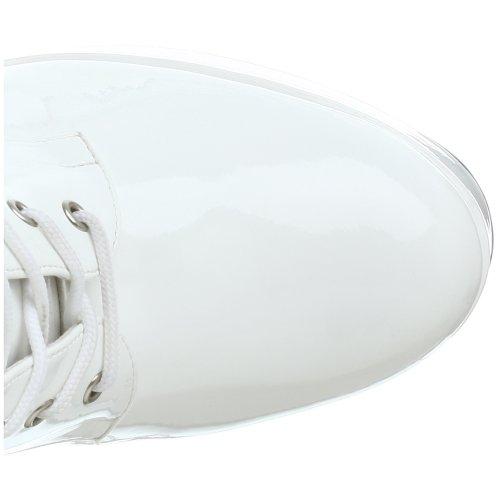 Pleaser - Electra-1020, Stivali Donna Bianco