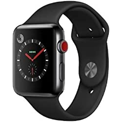 Apple Watch Series 3 OLED GPS (satélite) Móvil Negro Reloj Inteligente - Relojes Inteligentes (OLED, Pantalla táctil, GPS (satélite), Móvil, 52,8 g, Negro)