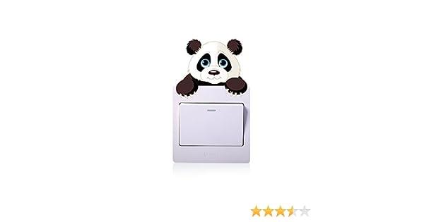 Tic Tac Stickers Muraux Amovible Bébé Charmant Dessin Animé Animal Panda