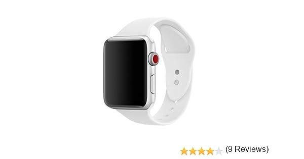 Pour Apple watch Bracelet 42mm, ToveLo Bracelet Sport doux in Silicone Remplacement avec innovant de fermeture à clou et passant pour Apple Watch Serie 1, ...