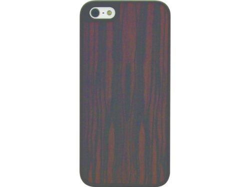 Signature Clip-On Hülle Case Cover für Apple iPhone 5/5S/SE - Polka Dot Spot Wood Grain
