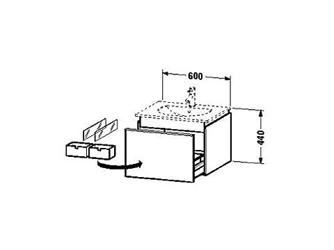 Duravit Waschtischunterschrank Darling New 545x600x440mm 1 Auszug, 049963, pine silver/terra, DN646003114