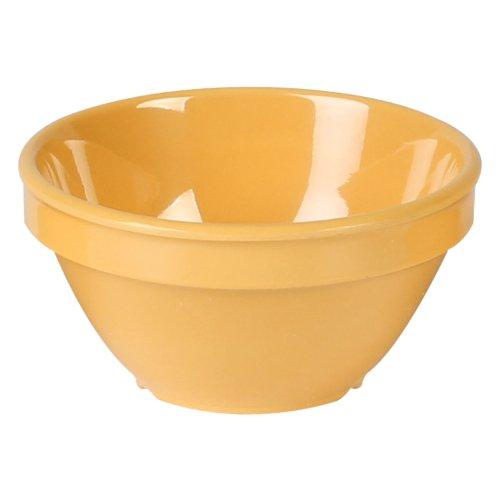 Excellanté Yellow Melamine Collection 4-1/4-Inch Bouillon Cup, 8-Ounce, Yellow, 12-Piece 8 Oz Bouillon