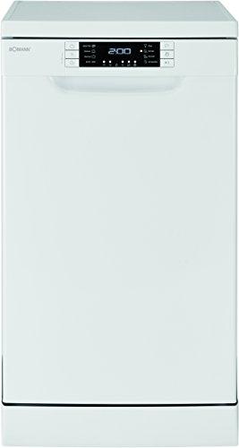 Bomann GSP 854 Geschirrspüler A+++ Stand-(Unterbau) 45 cm, 10 Maßgedecke, 44dB, 188 kWh, LED-Display,flexible Besteckschublade