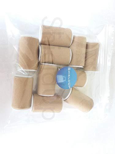 10x shieldup stabiler Pappe Röhren | 25mm Durchmesser von 50mm lang