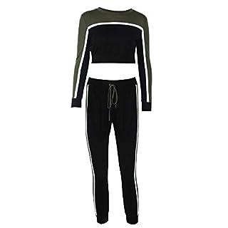 MRULIC Survêtement Femme Ensemble de Sports Doux Confortable Fitness Yoga Costumes Manches Longues Pantalon 2 Pièce Vêtements Set Sport Sweat Pantalons