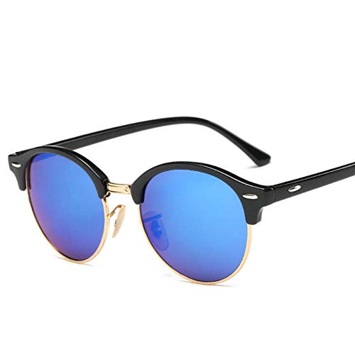 GAOHAITAO Hot Rays Sunglasses Women Popular Designer Men Summer Sun Glasses Rivet Frame Colorful Coating Shades,C2