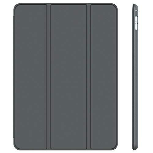 JETech Hülle für iPad Pro 12,9 (1. und 2. Generation, Modell 2015 und 2017), Schutzhülle mit Auto Schlaf/Wachen, Dunkel Grau