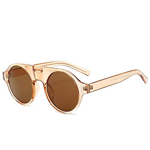ZRTYJ Sonnenbrillen Neue Große Runde Sonnenbrille-Frauen Marken-Art- Und Weiseretro- Sonnenbrille-Männer Damen-Sommer-Sonnenbrille