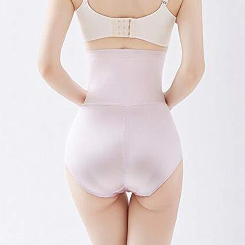 Biddtle Damen Miederhosen Bauch Weg Miederslip Formende Body Shaping Unterwäsche Hohe Taille Butt Push Up Shapewear Dünn Figurformend Taillenformer,Rosa,L - 3