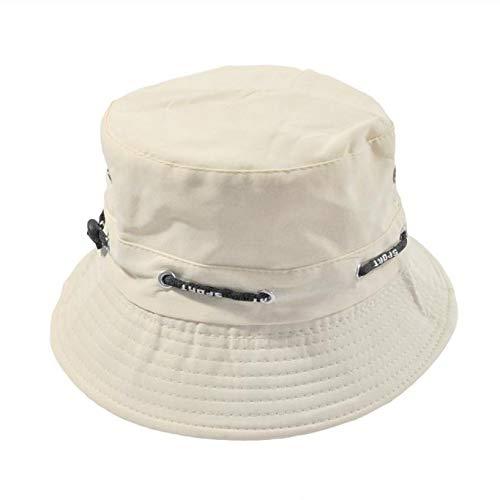 Lonshell_Damen Cap Damen und Herren Fischerhüte Armee Tarnung Sonnenhut Fishermütze Moden Mütze Freizeithut Nepalesische Kappe Eimer Hut (Einfarbig Weiß)