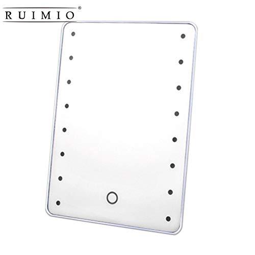 LEDHZJYLW Led Schminkspiegel Schminkspiegel Mit 16 LEDs Kosmetikspiegel Mit Touch-Dimmer-Schalter...