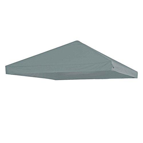 Dachstoff für Pavillion 3x3m Yasumi grau Partyzelt Ersatzdach Polyester Dach