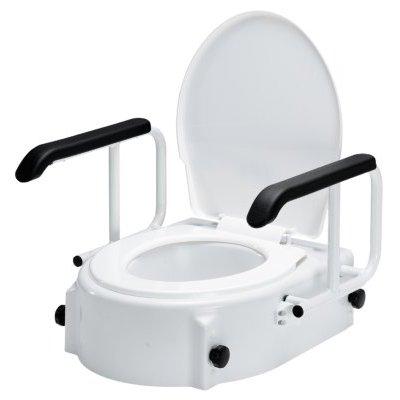 Toilettensitzerhöhung TSE A höhenverstellbar mit Armlehnen
