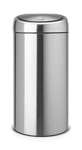 Touch Bin 20 + 20 L mit 2 Kunststoffeinsätzen / Matt Steel Fingerprint proof 40-liter Touch Bin