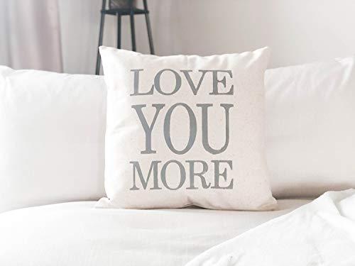 Yshdndml - federa per cuscino con scritta love you more, ideale come regalo per matrimonio, anniversario