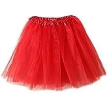DELEY Adulto Mujeres Tutu en capas de organza de encaje mini partido de lujo de la falda de vestir