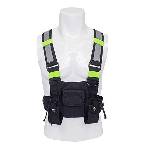 QEES ZSBX06 - Imbracatura universale per autoradio, gilet Molle, attrezzatura di sopravvivenza per uomo