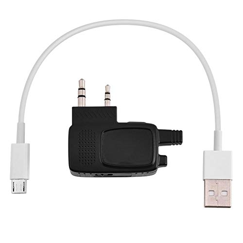 Acogedor Adattatore Bluetooth per walkie-Talkie, 2 Pin K Plug Walkie Talkie Adattatore Bluetooth Dongle per Baofeng Radio bidirezionale BF-666s BF-480