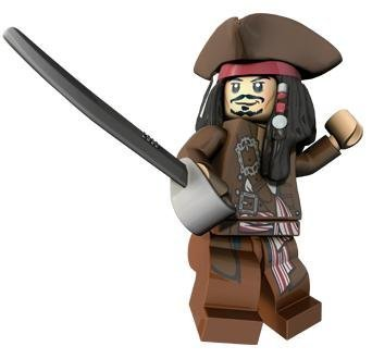 Captain Jack Sparrow (Hat & Jacket) - LEGO Pirates of the Caribbean Minifigur by LEGO Sparrow Jacket