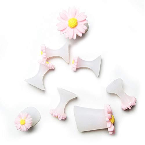 Qjiaxing toe separatore di silice gel fiore manicure strumenti lavabili,pink