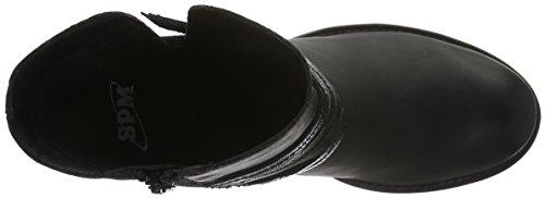 SPM Bullet Ankle Boot, Stivali Bassi con Imbottitura Leggera Donna Nero (Schwarz (Black/Black))
