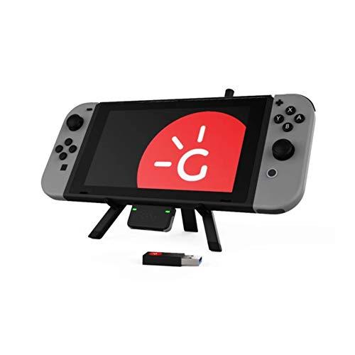 Genki Bluetooth-Audio-Adapter für Nintendo Switch - BT5.0 Transmitter, aptX-LL niedrige Latenz, Multi-Pairing