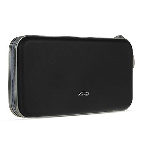 Pingenaneer 80 CD/DVD Aufbewahrung Tasche Hard Plastik CD-Wallet/Mappe mit Verschluss Reißverschluss Anti-Kratzer und Platzsparend - Schwarz