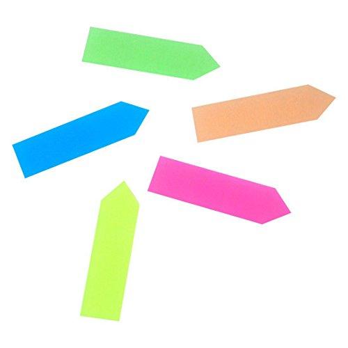 SODIAL(R)Senales de flecha Marcadores de pagina destacados pegajoso, 2 paquetes, 5 Colores