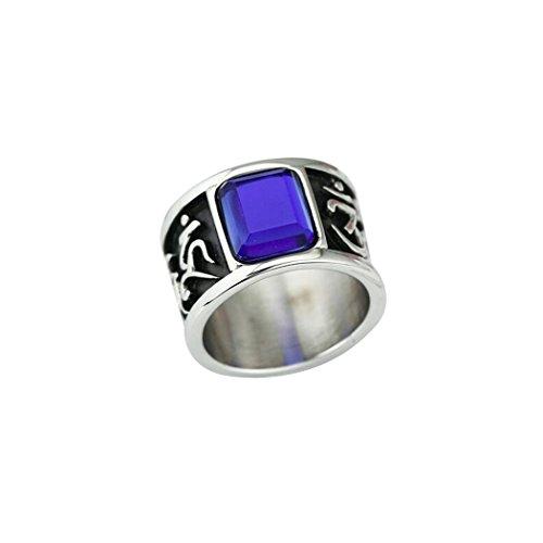 Sanmuhu Männer Edelstahl Retro-buddhistischen sechs wahre Silbe Mantra Diamant Ring Größe - Diamant-ring-größe 9