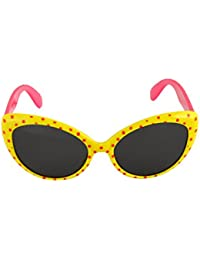 Stoln Kids Sunglasses Retro Wayfarer Style With Polka Dots For Girls UV Protection Designer Kids Sunglasses Black...