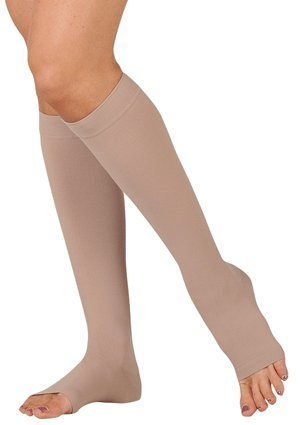 20-30 mmHg Juzo Dynamic (Varin) AD-N Compression Stockings. Knee High. Open Toe. Short. Silicone Grip. 5cm, Size:III by Juzo