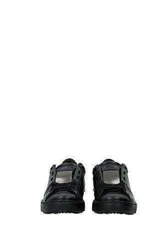 LY0S0830TLVN07 Valentino Sneakers Homme Cuir Noir Noir
