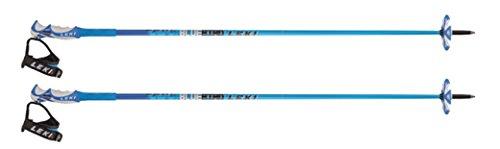LEKI Erwachsene Skistock Bird Carbon, Base Color: Blue/ Design: Dark Blue-White, 125 cm, 632-6870