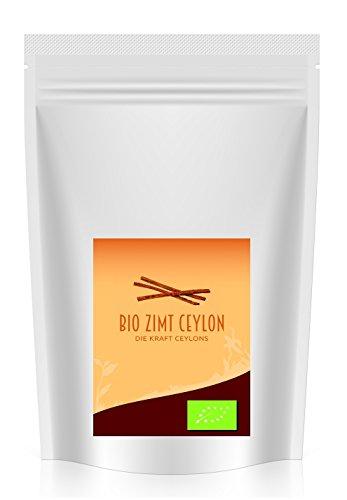 Goldener Zweig – Bio Zimt Ceylon Pulver – 1kg - rückstandskontrollierte und biozertifizierte 1000g Bio Zimt Ceylon gemahlen in wiederverschließbarer Verpackung