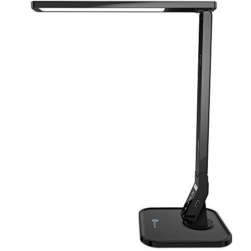 Desk Lamp, TaoTronics LED Desk Lamp with USB Charging Port, 4 Lighting Mode with 5 Brightness Levels, Timer, Memory Function, Desk Light for Study, Reading, Office and Bedroom